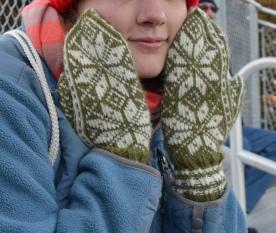 Norwegian Selbu knit wool mittens