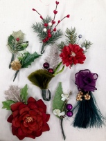 Selected and assembled corsages and hat embellishments for McCarter Theater, A Christmas Carol, Designed by Linda Cho