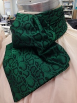 Cut and stitched cravat for McCarter Theater, A Christmas Carol, Designed by Linda Cho