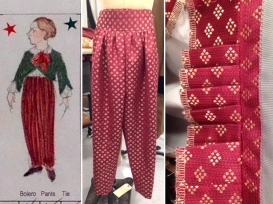 Stitched pants. McCarter Theater, Princeton NJ, Design by Linda Cho