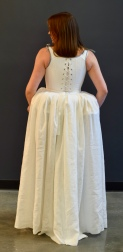 1776 corset and petticoat. Model: Chloe Moore