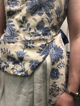 Jacket final fabric fitting photo