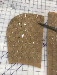 PVC chainmail pattern piece