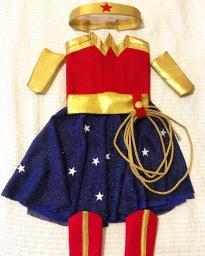 Designed and built a kid's Wonder Girl costume