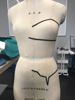 Style lines for re-creating dance corsets designed by Thomas Lempertz