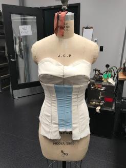 Mock up of dance corset