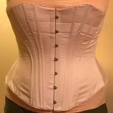 Built 1880's Corset in cotton sateen with metal spoon busk, adapted from Nora Waugh's pattern in Corsets & Crinolines